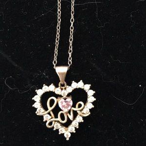Jewelry - 10K heart love necklace